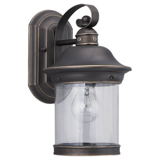 Sea Gull Lighting Hermitage Antique Bronze 1-light Outdoor Lantern
