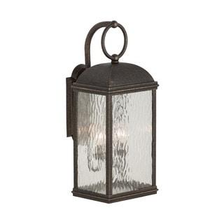 Sea Gull Lighting Branford Obsidian Mist 2-light Outdoor Lantern