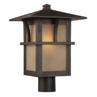Sea Gull Lighting Medford Statuary Bronze 1-light Post Lantern