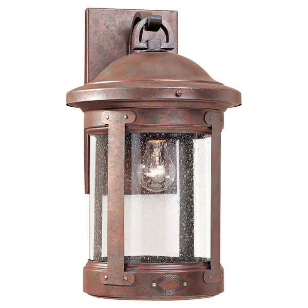 Sea Gull Lighting HSS CO-OP Weathered Copper 1-light Outdoor Lantern