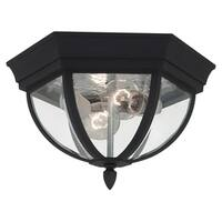 Bakersville Black Finish with Clear Beveled Glass Outdoor Ceiling Fixture