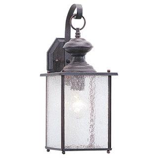 Jamestowne One-Light Outdoor Brown Wall Lantern