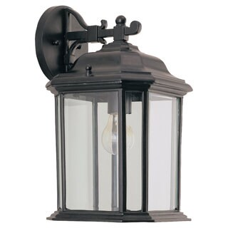 Kent Black Outdoor 1-Light Wall Lantern