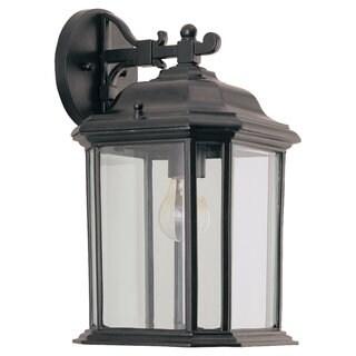 Kent Black Outdoor 1-Light Wall Lantern
