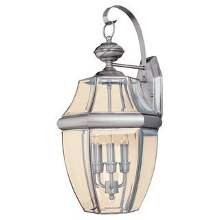 Lancaster Brushed Nickel 3-Light Wall Lantern