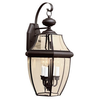 Lancaster Black Outdoor 3-Light Wall Lantern