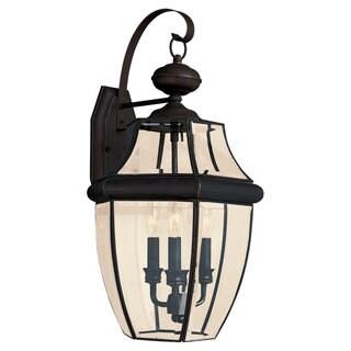 Lancaster Bronze Outdoor 3-Light Wall Lantern