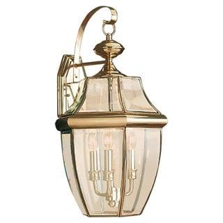 Lancaster Brass Outdoor 3-Light Wall Lantern
