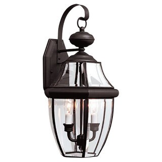 Lancaster Black Outdoor 2-Light Wall Lantern