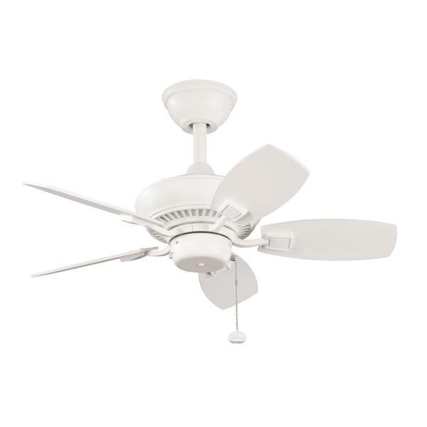 Satin Natural White 5-Blade Ceiling Fan