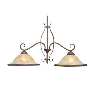Transitional 2-Light Aged Iron Island Light