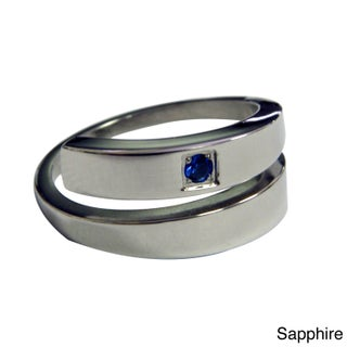 Magnetic Therapy Specialists Stainless Steel Crystal Ring (2 options available)