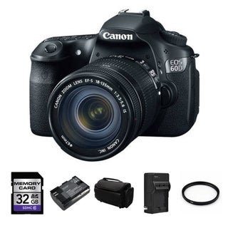 Canon EOS 60D 18MP Digital SLR Camera with EFS 18-135mm Lens Bundle