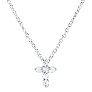 Blue Box Jewels .925 Sterling Silver Cubic Zirconia Mini Cross Necklace