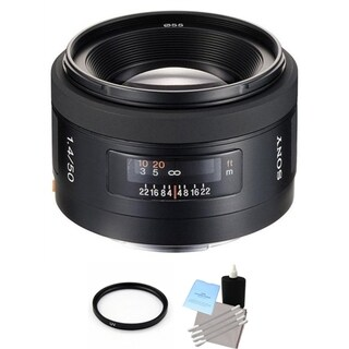 Sony 50mm f/1.4 Alpha A-Mount Standard Prime Lens Bundle