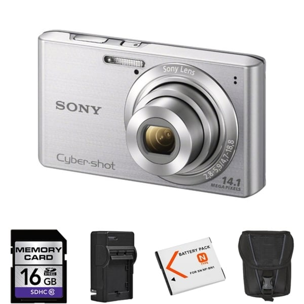 Sony Cyber-Shot DSC-W610 14.1MP Digital Camera Bundle
