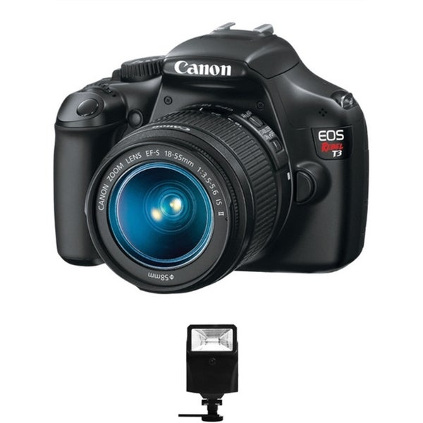 Canon EOS T3 DSLR Camera/ 18-55MM Lens/ Digital Flash Bundle