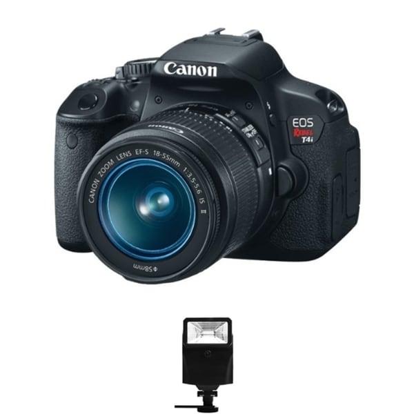Canon EOS T4i DSLR Camera /18-55MM Lens/ Digital Flash Bundle