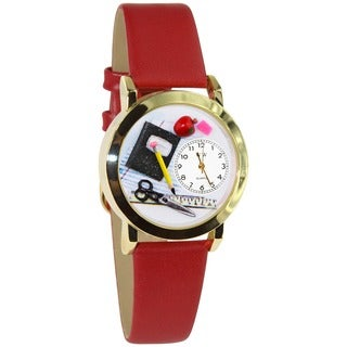 Teacher Red Leather Watch