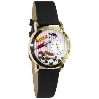 Veterinarian Black Leather Watch