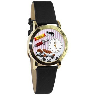 Veterinarian Black Leather Watch