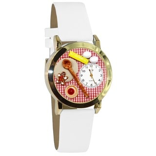 Joy of Baking White Leather Watch