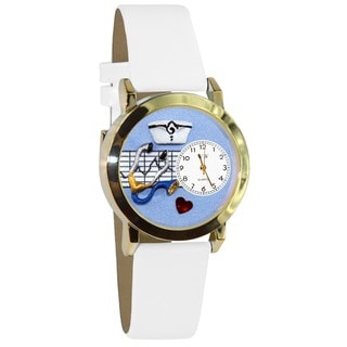 Nurse Blue White Leather Watch