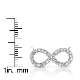 Eloquence 14k Yellow Gold 1/2ct TDW Diamond Infinity Necklace (H-I, I1-I2)