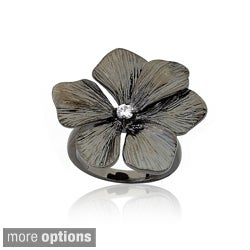 Riccova Brass Cubic Zirconia Flower Ring (2 options available)