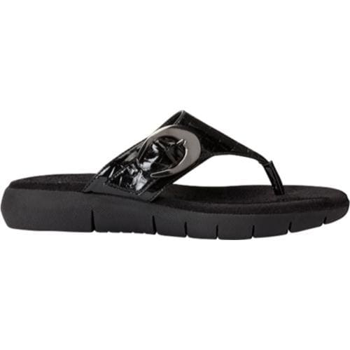 Women's A2 by Aerosoles Wipline Black Croco - Thumbnail 1