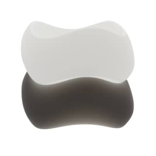 NEXTE Jewelry Black or White Frosted Lucite Bangle Bracelet