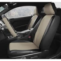 Oxgord Two-tone Faux Leather Low Back Universal Fit Bucket Seat Cover Set