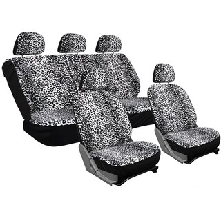 OxGord Velour Leopard/Cheetah Spotted Safari Low-back Bucket Seat Car Seat Cover Set (17-piece Set) (3 options available)
