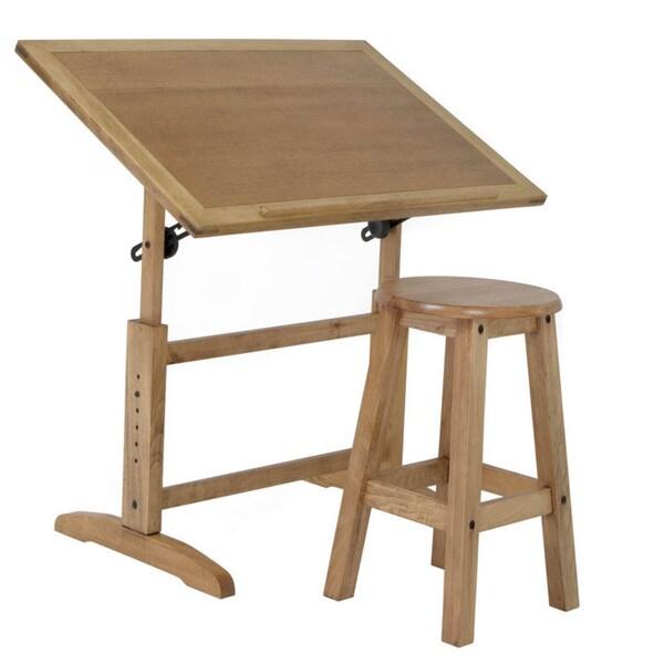 Studio designs antigua 36 inch wide wood drafting table - Mesas para dibujar ...