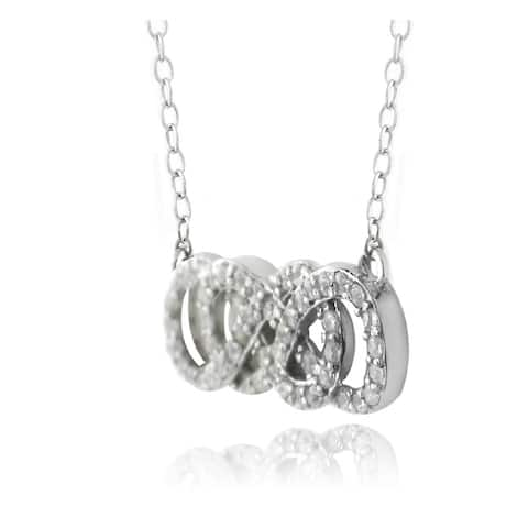 Icz Stonez Sterling Silver Cubic Zirconia Infinity Knot Necklace
