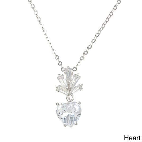 La Preciosa Sterling Silver Cubic Zirconia Necklace
