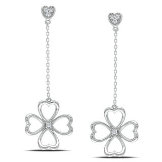 Miadora 14k White Gold Diamond Accent Dangle Earrings