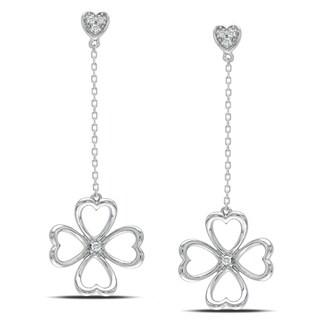 Miadora 14k White Gold Diamond Accent Dangle Earrings