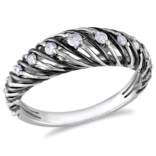 Miadora 14k White Gold 1/4ct TDW White Diamond Ring