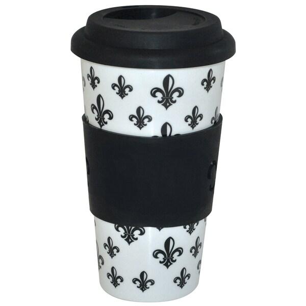 KitchenWorthy Ceramic Fleur De Lys Tumbler