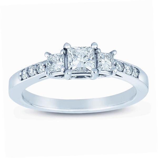Classic 14k White Gold 3/4ct TDW Diamond Engagement Ring (H-I, I1-I2)