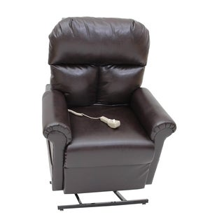 Prolounger lya brown renu leather power recline and lift for Addin chaise recliner