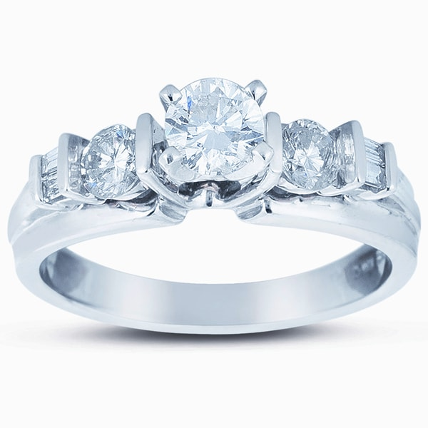 14k White Gold 1ct TDW Diamond Engagement Ring (H-I, I1-I2)