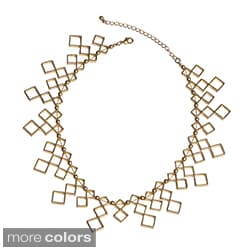 NEXTE Jewelry Goldtone or Silvertone Diamond-shape Necklace