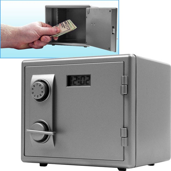 Mini Toy Safe with LCD Electronic Clock