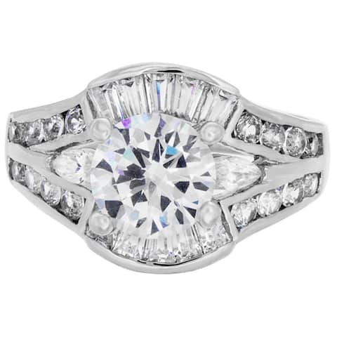 Roberto Martinez Silver Cubic Zirconia Bridal-style Ring