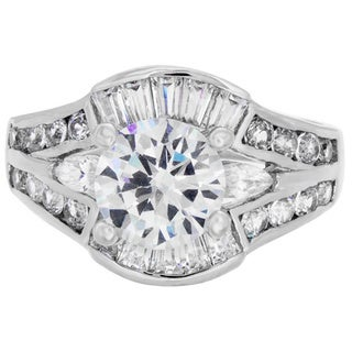 Link to Roberto Martinez Silver Cubic Zirconia Bridal-style Ring Similar Items in Rings