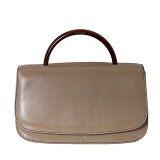 Prada 'Madras' Beige Leather Top Handle Bag