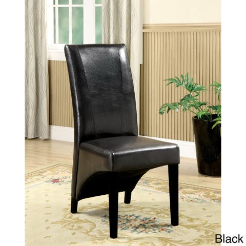 Furniture of America Ziff Contemporary Black Dining Chairs (Set of 2)