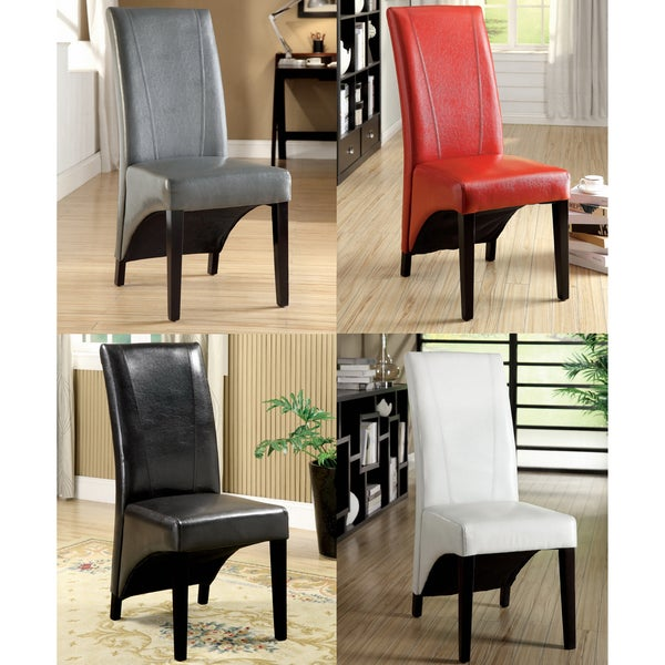 Furniture of America Uptown Contemporary Leatherette Dining Chairs (Set of 2)